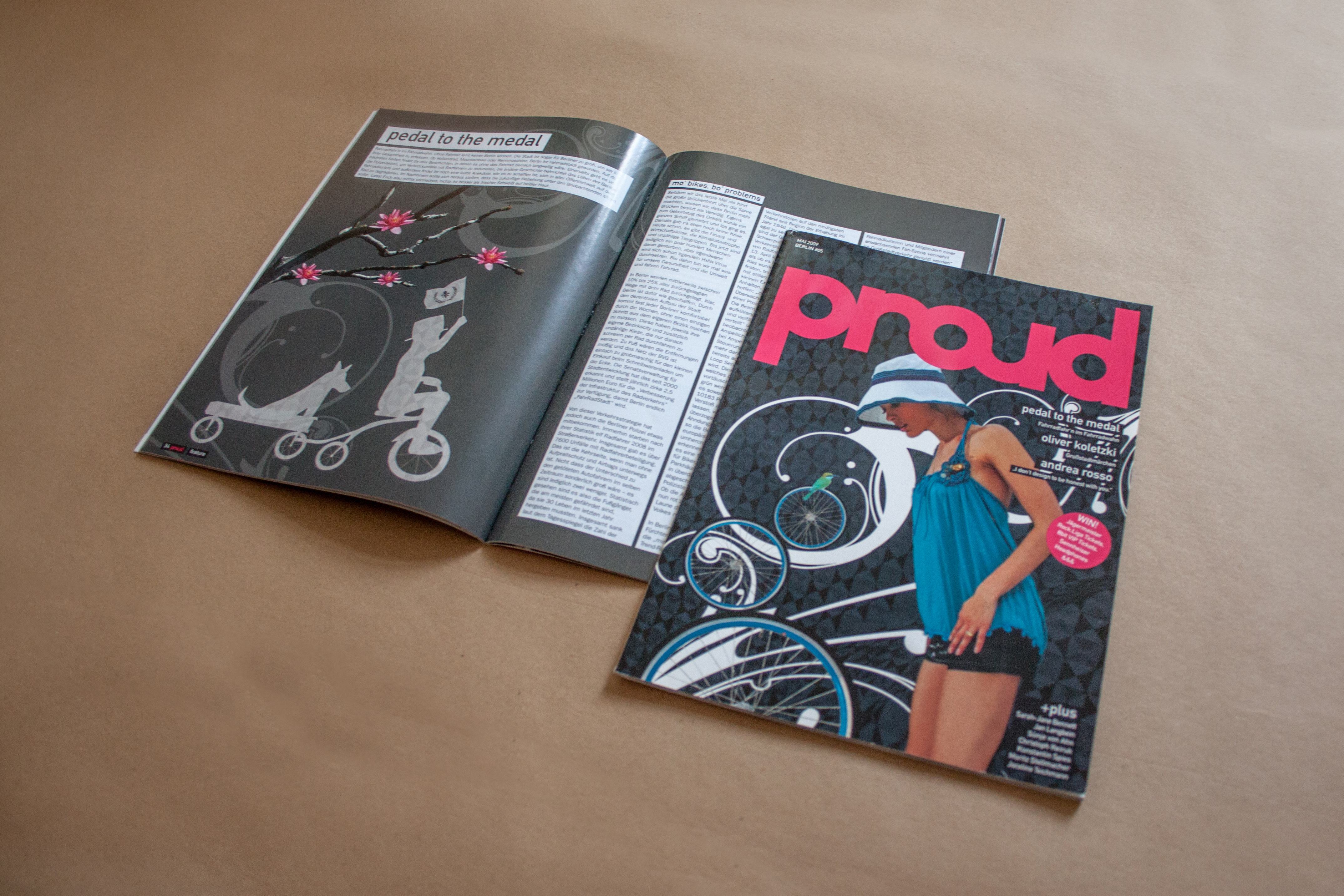 Proud magazine cover and inside pages